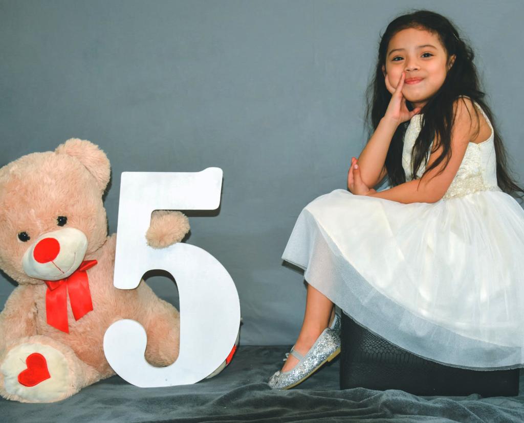 Девочка и медвежонок, день рождения 5 лет